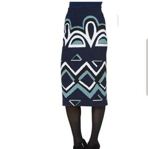 Burberry Prorsum Stretch Wool Skirt